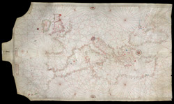 Portolan Chart of Europe Showing the British Isles part A0